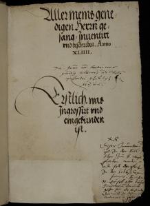 Neuburger Kapellinventar, Titelseite