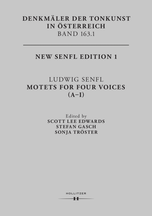 New Senfl Edition, Band 1, Cover