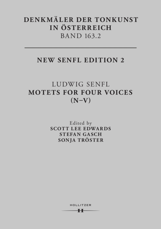 New Senfl Edition, Band 2, Cover