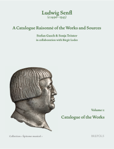 Senfl-Katalog, Band 1, Cover